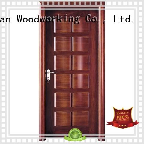 pure solid wood composite doors modern design wooden Runcheng Woodworking company