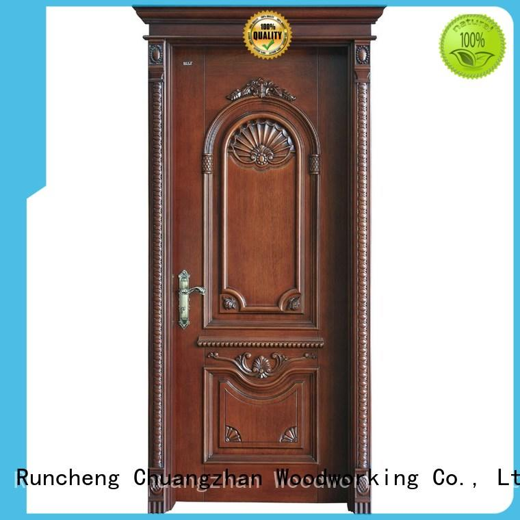 Runcheng Woodworking Brand interior modern composited design solid wood composite doors