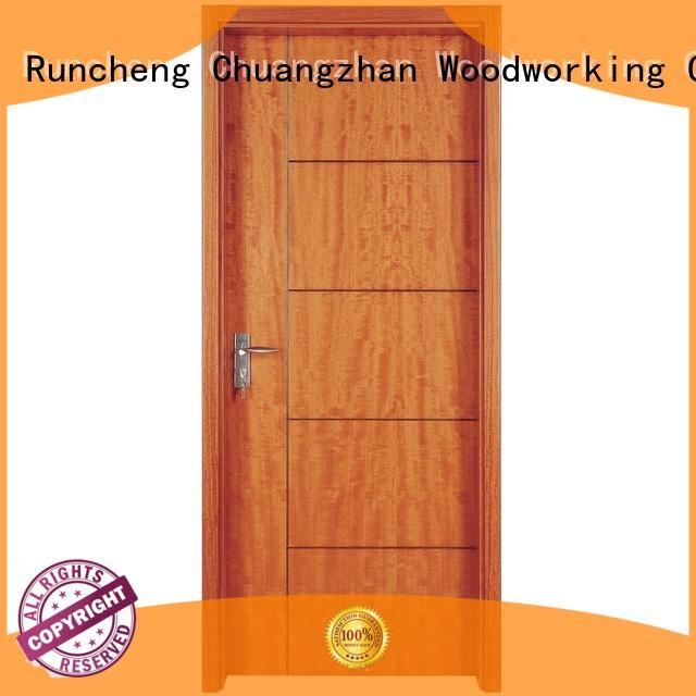 interior modern veneer pure Runcheng Woodworking Brand solid wood composite doors supplier