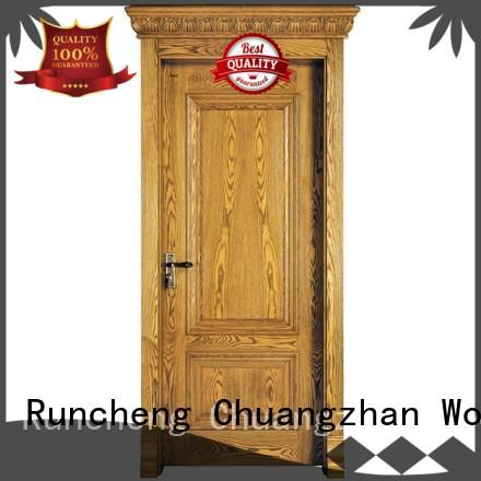 Runcheng Woodworking Brand veneer door solid solid wood composite doors