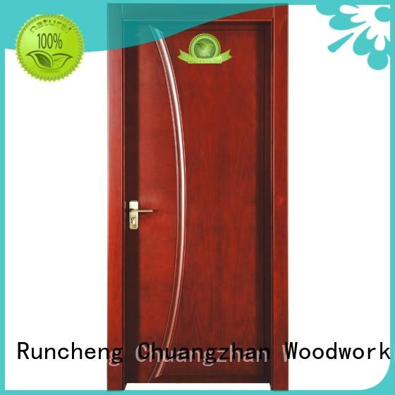 Runcheng Woodworking Brand veneer modern design wooden kitchen cabinet doors composited supplier