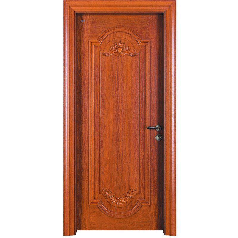 Runcheng Woodworking D024  Interior veneer composited modern design wooden door Solid  Wood  Composite Door image38