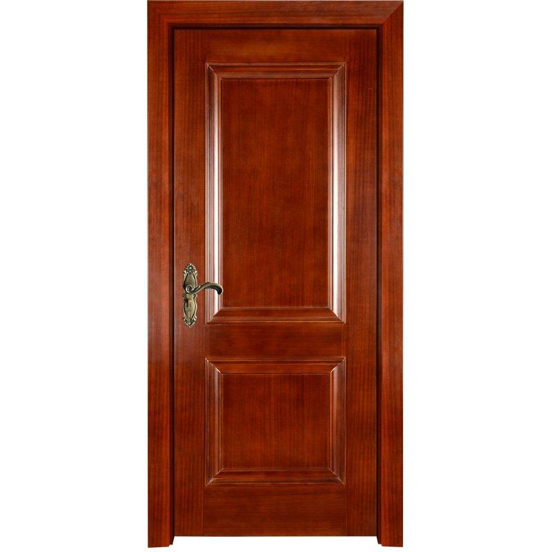 Runcheng Woodworking EKM02 Interior veneer composited modern design wooden door Solid  Wood  Composite Door image37