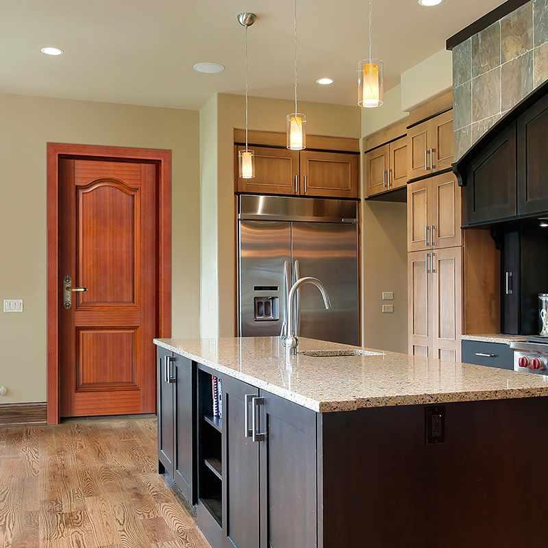 Runcheng Woodworking GK011  Interior veneer composited modern design wooden door Solid  Wood  Composite Door image35