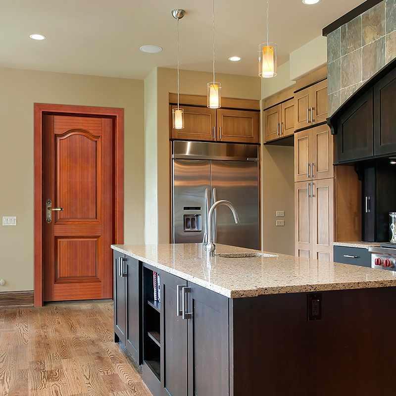 GK011  Interior veneer composited modern design wooden door