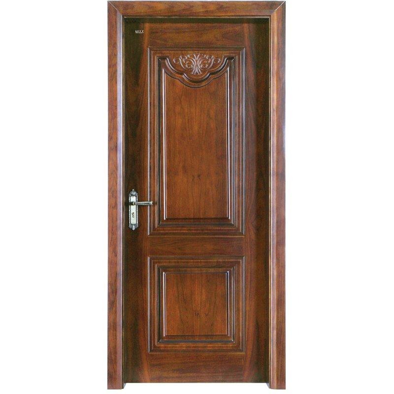 Runcheng Woodworking K002  Interior veneer composited modern design wooden door Solid  Wood  Composite Door image34