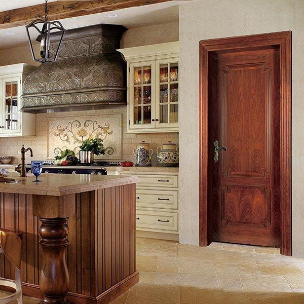 Runcheng Woodworking K009 Interior veneer composited modern design wooden door Solid  Wood  Composite Door image31
