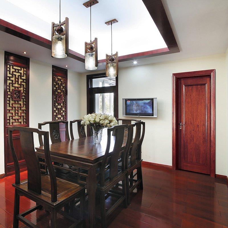 Runcheng Woodworking PP001  Interior veneer composited modern design wooden door Solid  Wood  Composite Door image30