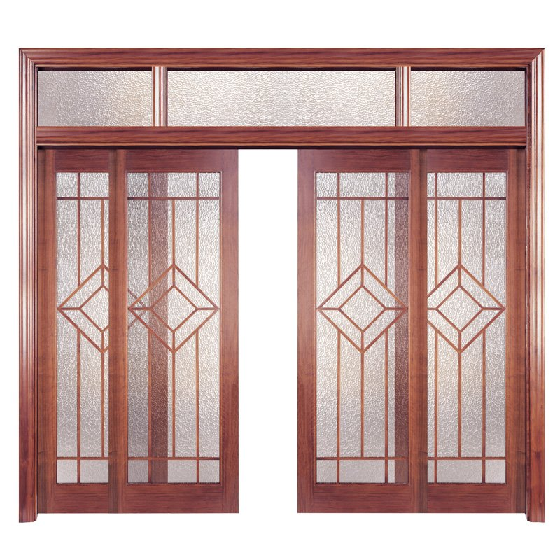 Runcheng Woodworking PP001-4 Interior veneer composited modern design wooden door Solid  Wood  Composite Door image29