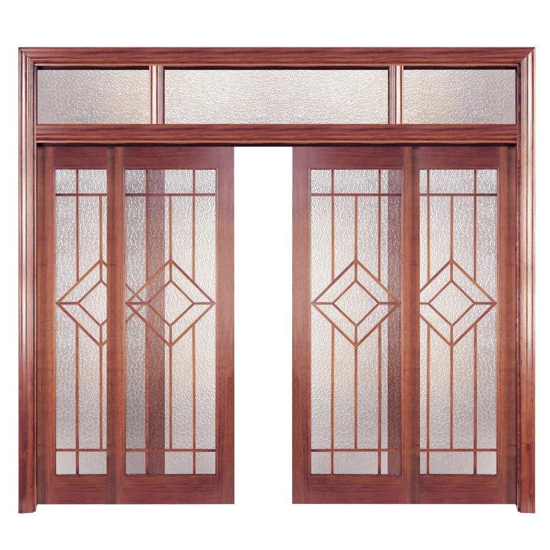 PP001-4 القشرة الداخلية تتألف من باب خشبي بتصميم عصري