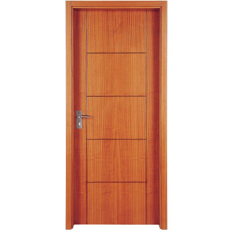 PP003T Interior veneer composited modern design wooden door