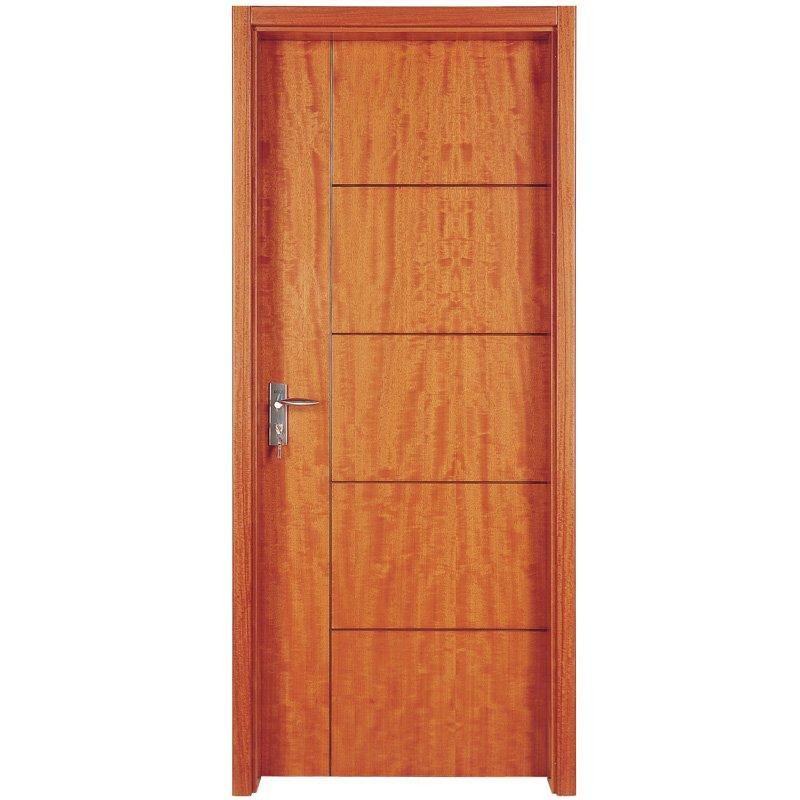 PP005T Interior veneer composited modern design wooden door