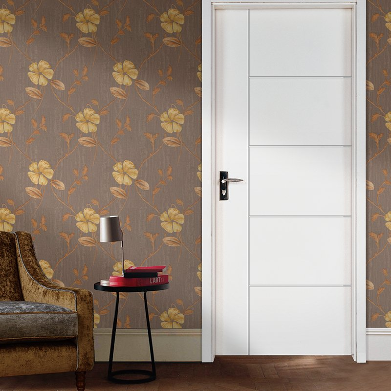 Runcheng Woodworking PP005T Interior veneer composited modern design wooden door Solid  Wood  Composite Door image27