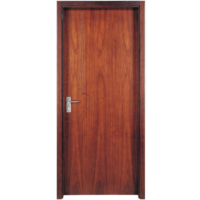 Runcheng Woodworking PP007T Interior veneer composited modern design wooden door Solid  Wood  Composite Door image26