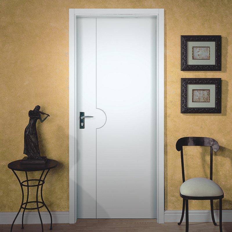 PP007T Interior veneer composited modern design wooden door