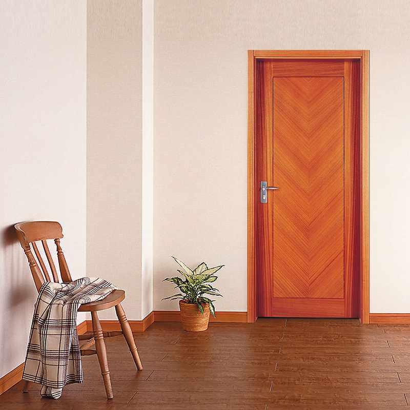 Runcheng Woodworking PP009 Interior veneer composited modern design wooden door Solid  Wood  Composite Door image25