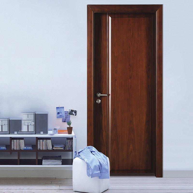 PP016  Interior veneer composited modern design wooden door