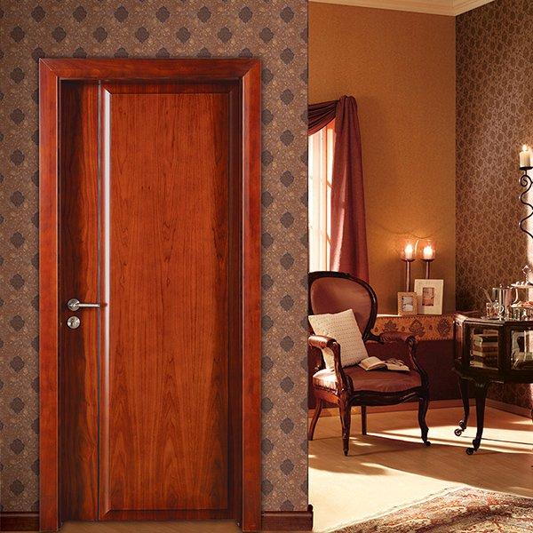 Runcheng Woodworking PP016  Interior veneer composited modern design wooden door Solid  Wood  Composite Door image23