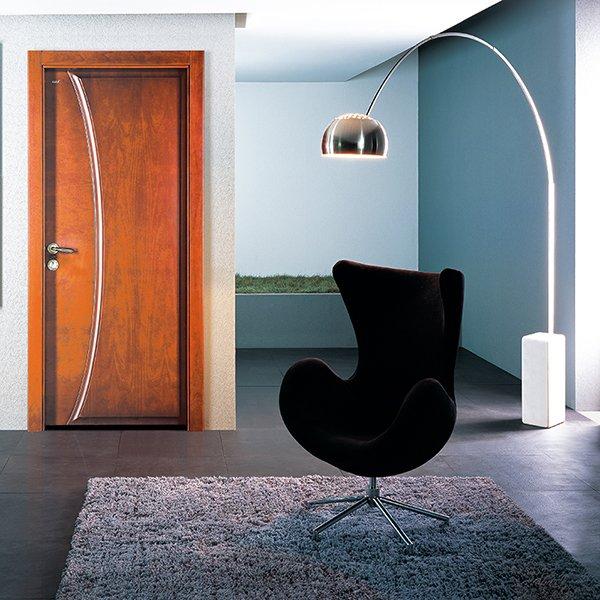 Runcheng Woodworking PP022 Interior veneer composited modern design wooden door Solid  Wood  Composite Door image22