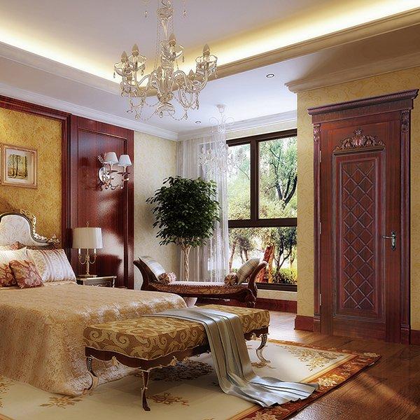 Runcheng Woodworking S017 Interior veneer composited modern design wooden door Solid  Wood  Composite Door image21