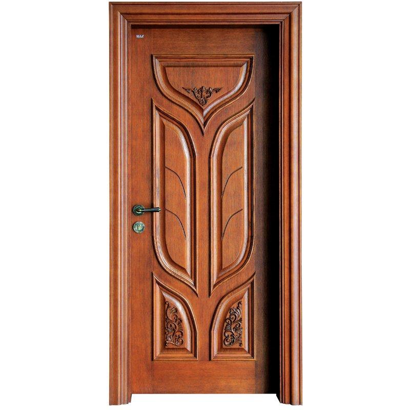 Runcheng Woodworking S027 Interior veneer composited modern design wooden door Solid  Wood  Composite Door image20