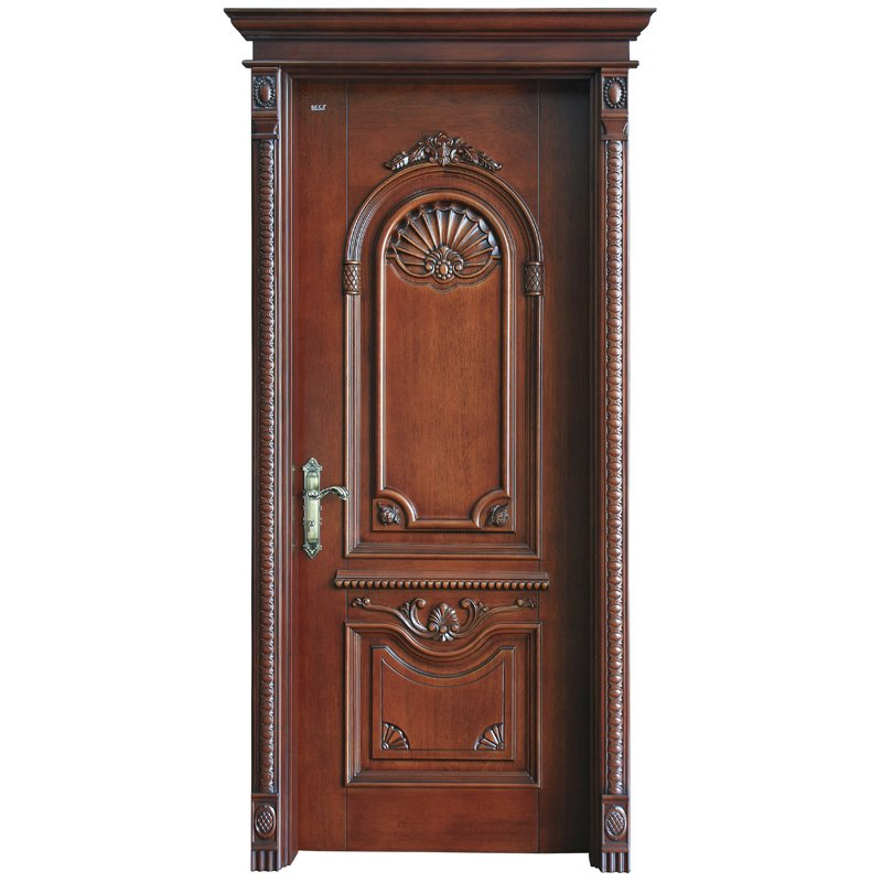 Runcheng Woodworking S040 Interior veneer composited modern design wooden door Solid  Wood  Composite Door image17