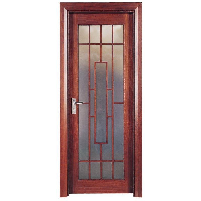 Runcheng Woodworking X010-4  Interior veneer composited modern design wooden door Solid  Wood  Composite Door image14