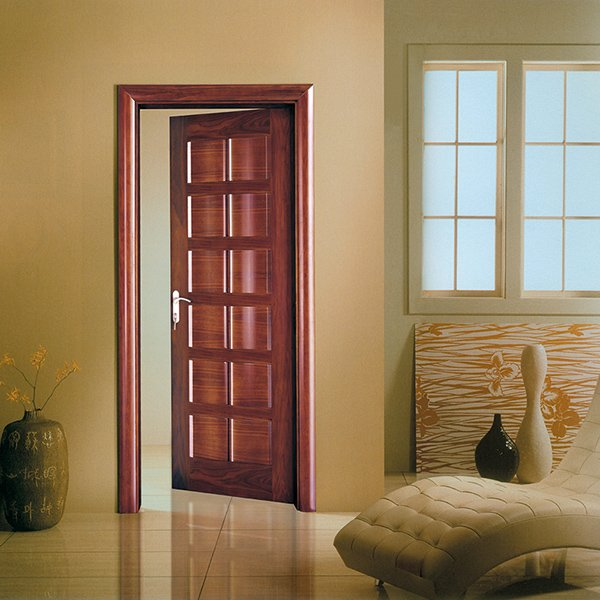 Runcheng Woodworking X025 Interior veneer composited modern design wooden door Solid  Wood  Composite Door image11