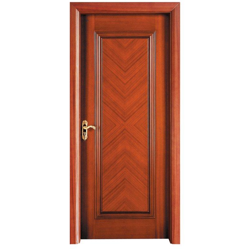 Runcheng Woodworking X036  Interior veneer composited modern design wooden door Solid  Wood  Composite Door image9