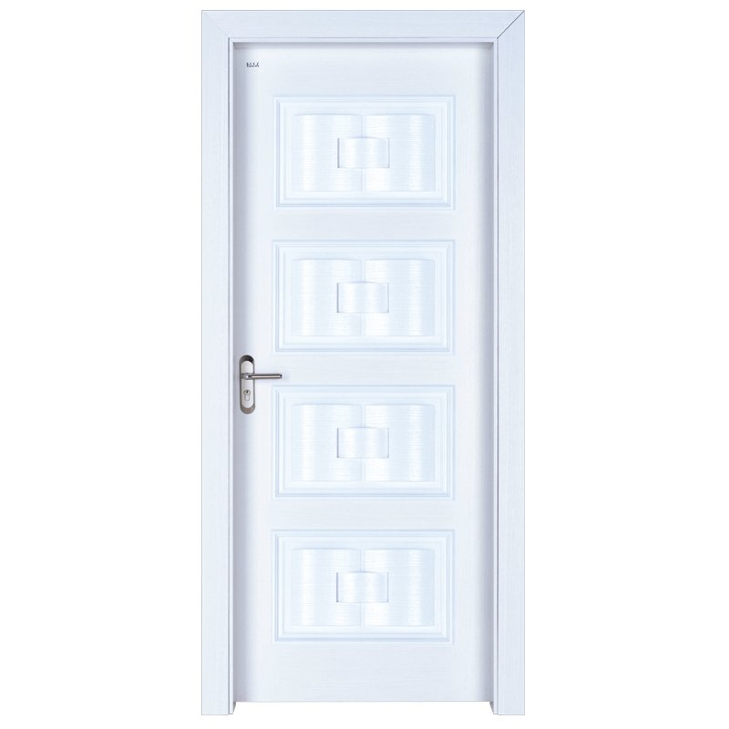 Runcheng Woodworking X046 Interior veneer composited modern design wooden door Solid  Wood  Composite Door image7