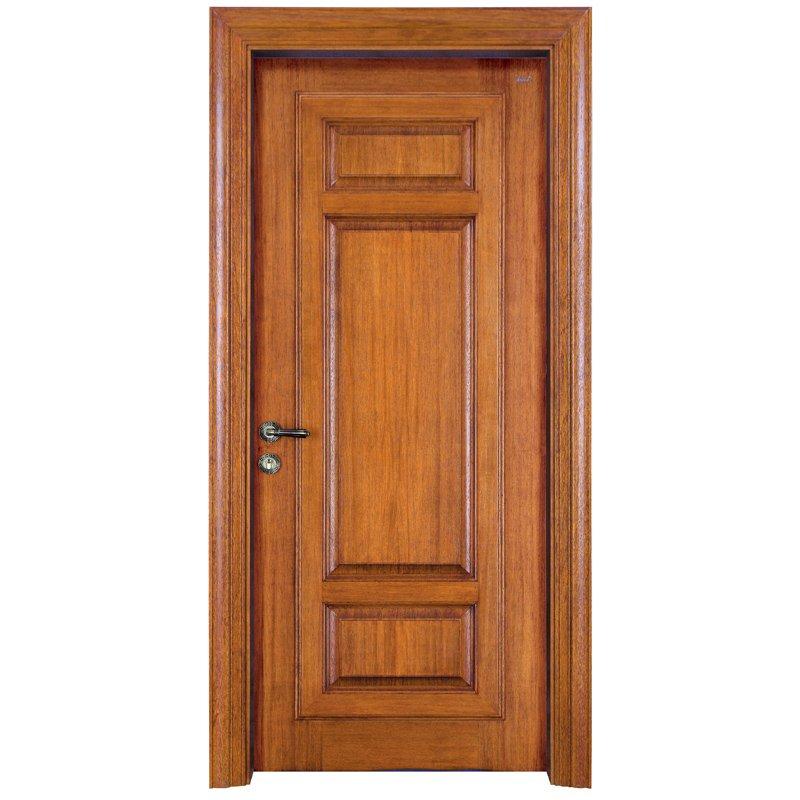 Runcheng Woodworking X052 Interior veneer composited modern design wooden door Solid  Wood  Composite Door image6