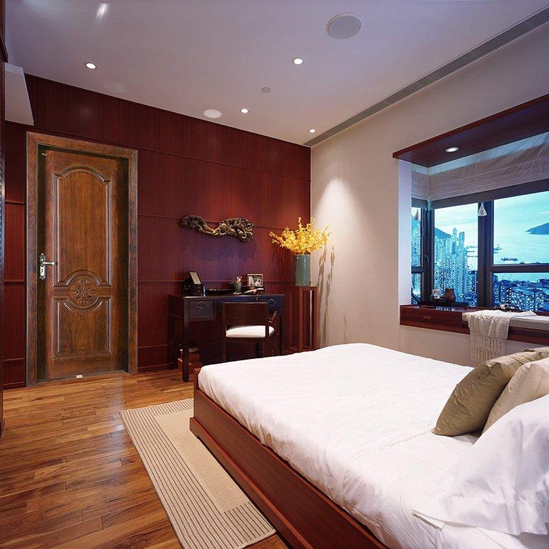 Runcheng Woodworking Z005P Interior veneer composited modern design wooden door Solid  Wood  Composite Door image4