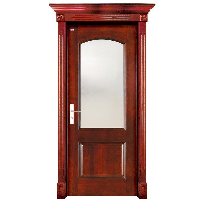 Runcheng Woodworking S001-2  Interior pure solid wooden door Solid  Wood  Door image8