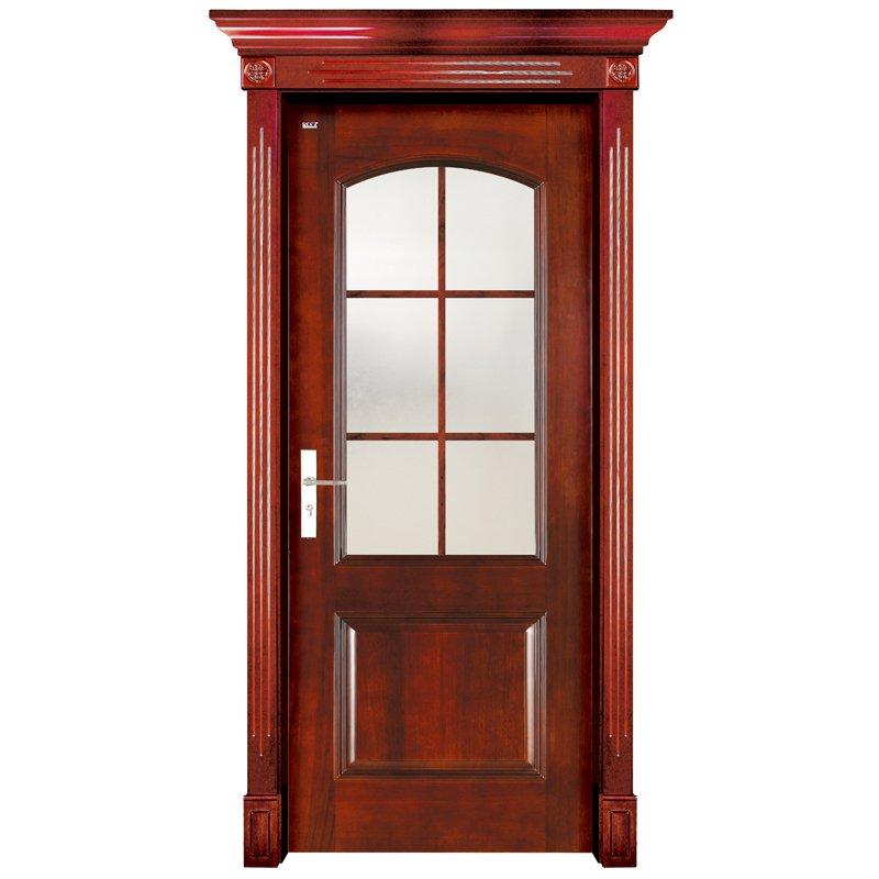 Runcheng Woodworking S001-3 Interior pure solid wooden door Solid  Wood  Door image7