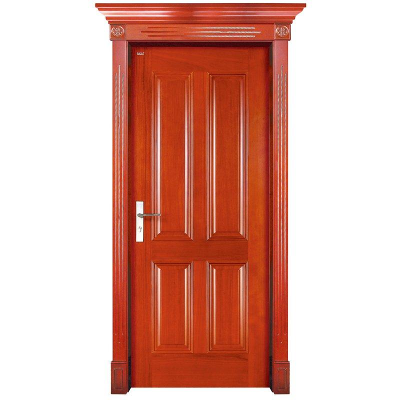Runcheng Woodworking S002 Interior pure solid wooden door Solid  Wood  Door image6