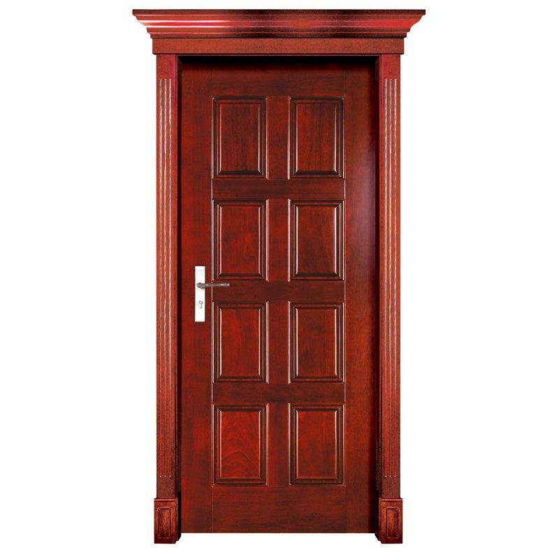 Runcheng Woodworking S003 Interior pure solid wooden door Solid  Wood  Door image5
