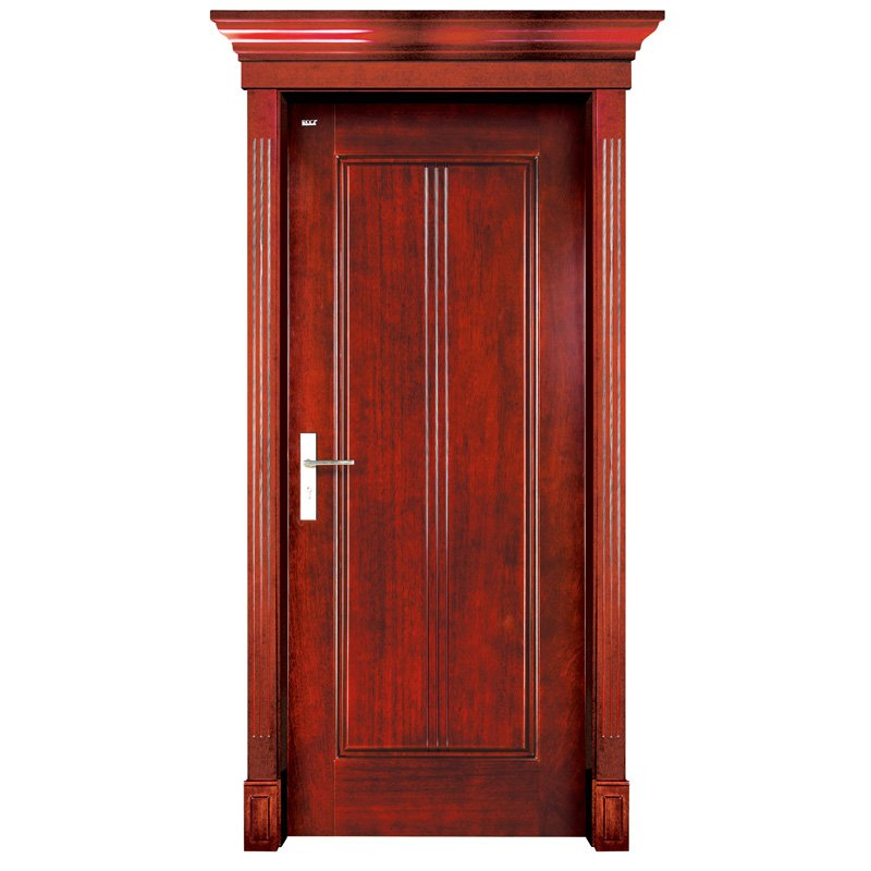 Runcheng Woodworking S004 Interior pure solid wooden door Solid  Wood  Door image4
