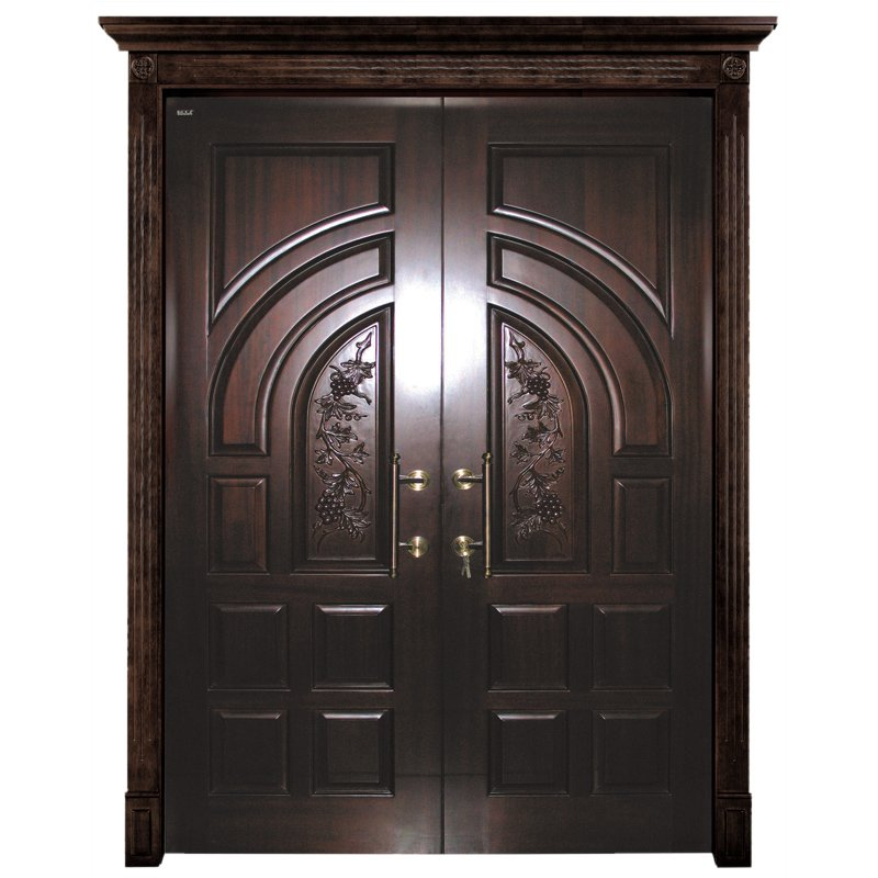 Runcheng Woodworking D005Y-0 Interior pure solid wooden door Double  Door image10
