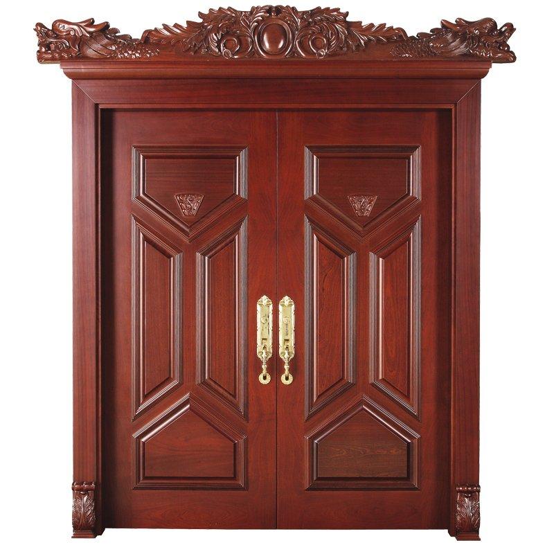 Runcheng Woodworking D008Y-0 Interior pure double solid wooden door Double  Door image8