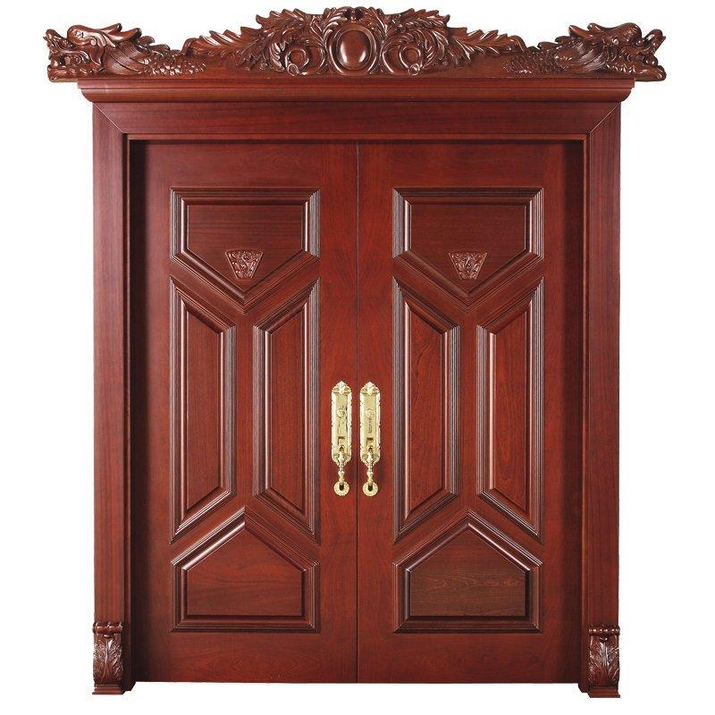 D008Y-0 Interior pure double solid wooden door