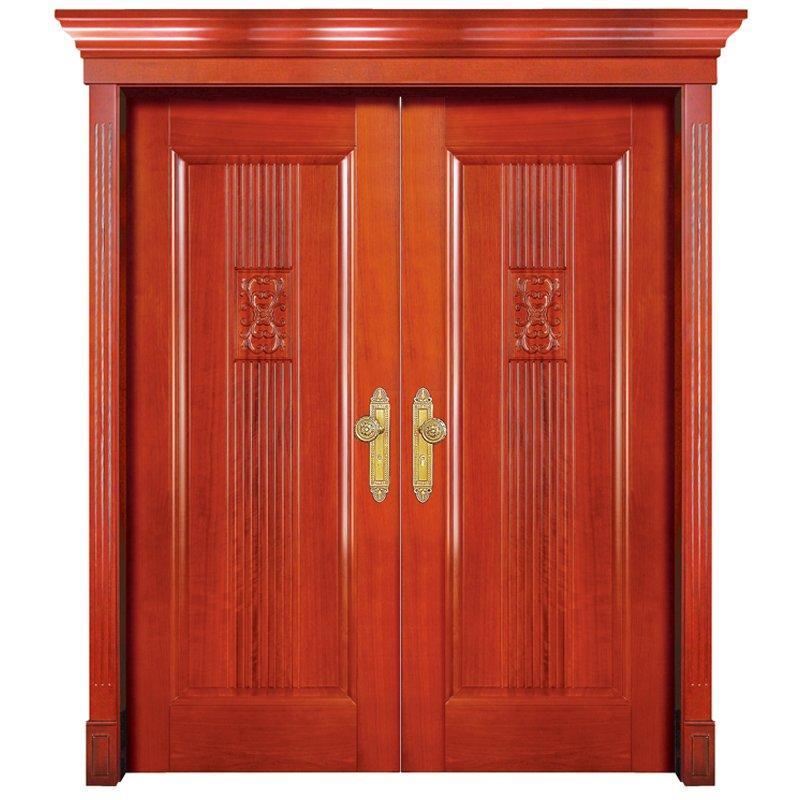 S006 double Interior veneer composited modern design wooden door