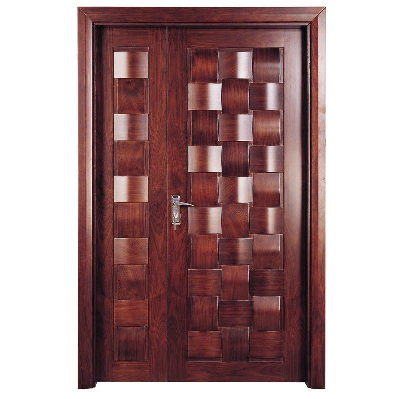 X010-1 Interior veneer composited modern design wooden door