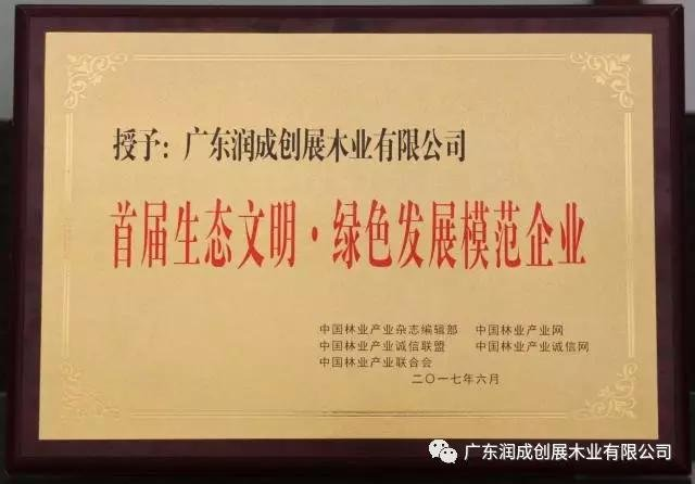 "Runcheng Chuangzhan-Runcheng Chuangzhan winning the honor of ""Ecological Civilization Green Develop-1"