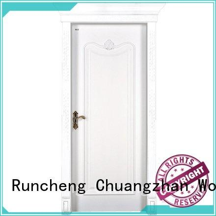 internal white mdf composited wooden door pp037 Runcheng Woodworking Brand mdf interior doors