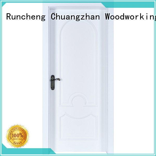 internal white mdf composited wooden door pp037 wooden Runcheng Woodworking Brand