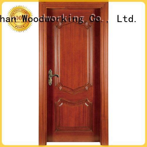 solid wood bedroom composite door s041y design OEM solid wood composite doors Runcheng Woodworking