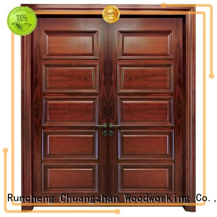Runcheng Woodworking Brand wooden interior double doors modern supplier