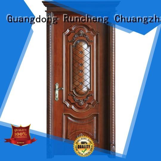 Runcheng Chuangzhan veneer solid composite wooden door manufacturers for villas