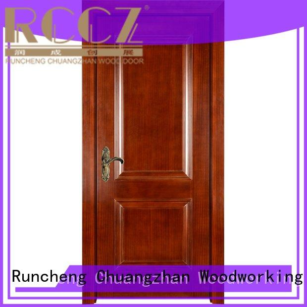 Runcheng Woodworking Brand veneer x036 solid wood bedroom composite door x052 pp007t
