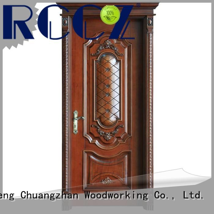 Runcheng Chuangzhan wood composite front doors for business for offices